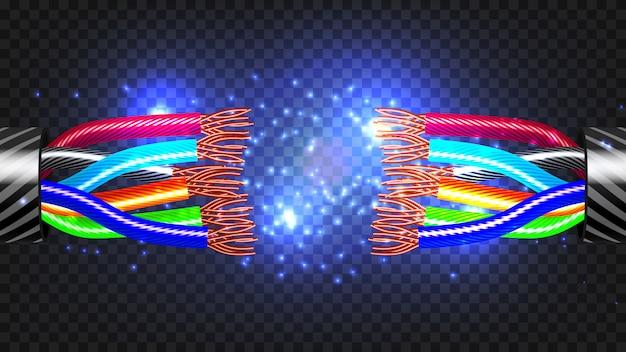Câble électrique cassé