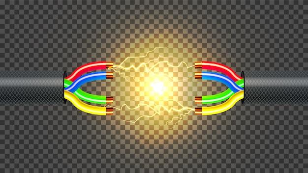 Câble électrique déconnecté