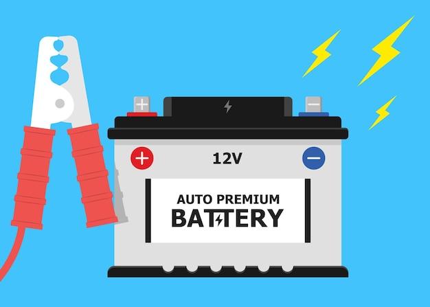 Câbles d'alimentation de cavalier de batterie de voiture de charge automatique de batterie