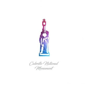 Cabrillo national monument monument polygon logo