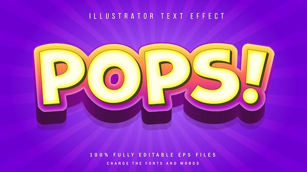 Caca! conception typographique d'effet de texte 3d
