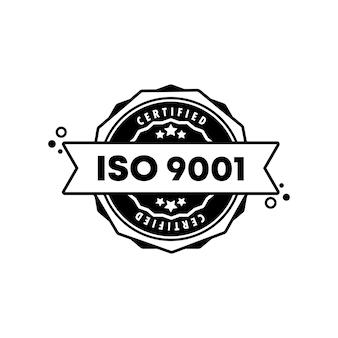 Cachet iso 9001. vecteur. icône de badge iso 9001. logo de badge certifié. modèle de timbre. étiquette, autocollant, icônes. vecteur eps 10. isolé sur fond blanc.