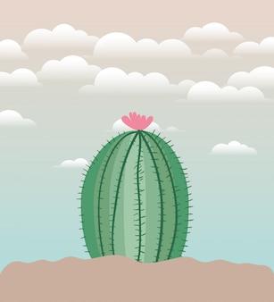 Cactu planté dans l'icône du jardin