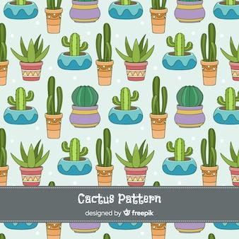 Cactus au fond des pots de fleurs