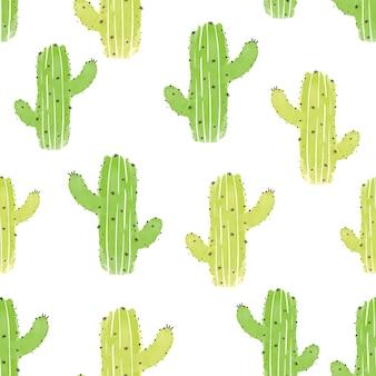 Cactus. modèle vectorielle continue cactus mignon