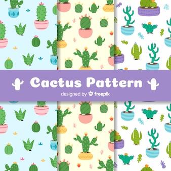 Cactus à motifs de pots de fleurs