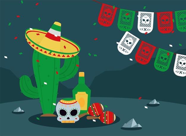 Cactus portant un chapeau mariachi
