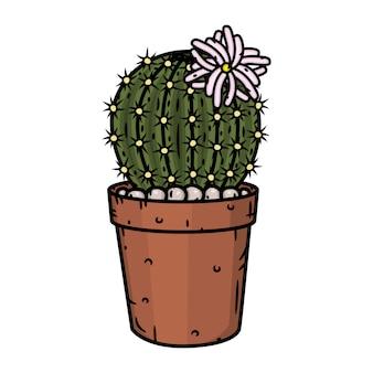 Cactus en pot. illustration isolé