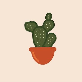 Cactus sur pot symbole social media post vector illustration