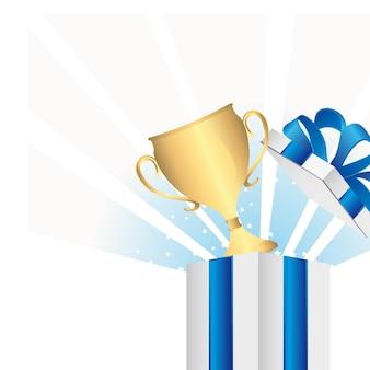 Cadeau avec trophée
