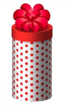 Cadeau dans une boîte arrondie, cadeau pour les vacances
