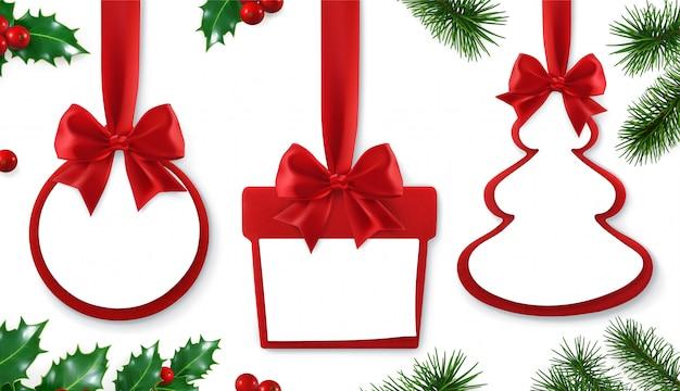 Cadeau avec décoration de feuille d'arbre