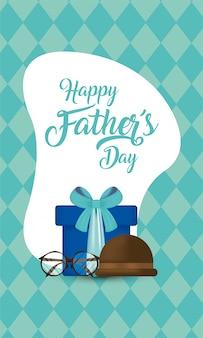 Cadeau de lunettes et chapeau de fête des pères