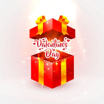 Cadeau ouvert happy valentines day.