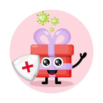Cadeau de protection contre les virus personnage mignon