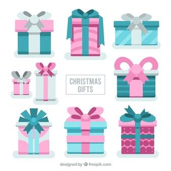 Cadeaux de noël impressionnants dans des couleurs pastel