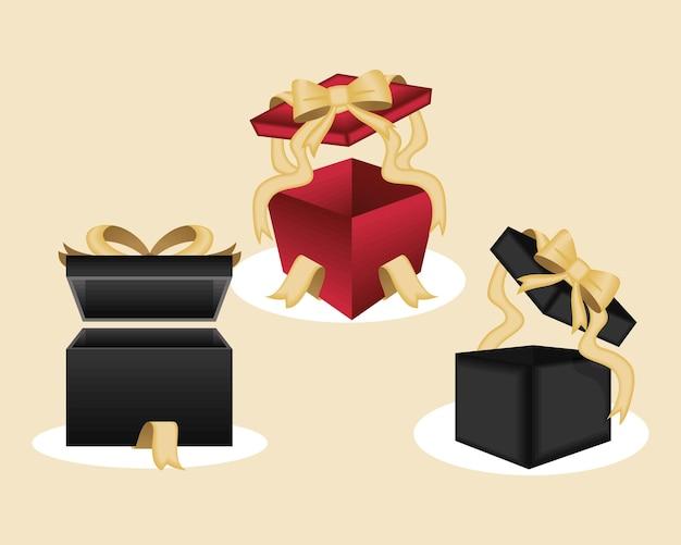 Cadeaux présente trois icônes