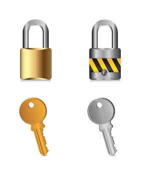 Cadenas à clés isolés