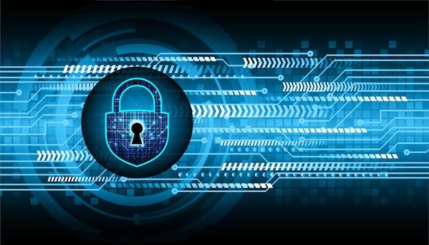 Cadenas fermé sur la cybersécurité de fond numérique