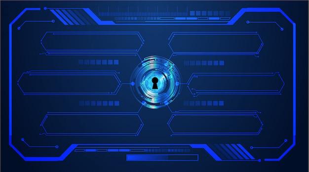 Cadenas fermé sur fond numérique, cybersécurité, zone de texte
