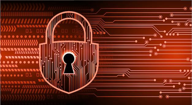 Cadenas fermé sur fond numérique, cybersécurité