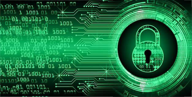 Cadenas fermé fond numérique, cybersécurité