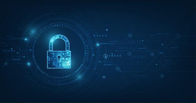 Cadenas avec icône de trou de serrure dans la sécurité des données personnelles illustre une idée de confidentialité des cyberdonnées ou des informations