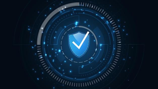 Cadenas sécurité cyber concept numérique protéger le système
