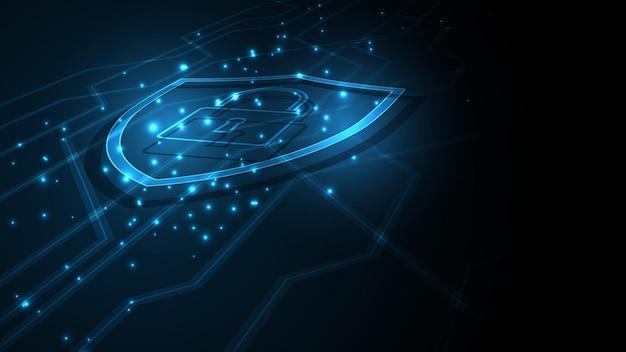 Cadenas sécurité cyber numérique concept abstrait technologie fond protéger système innovation