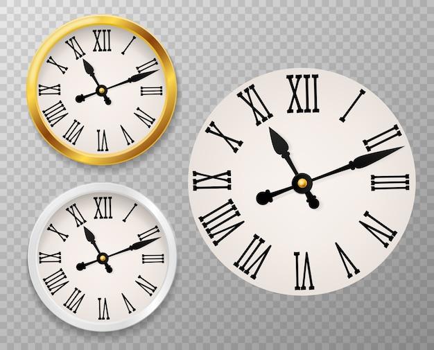 Cadran d'horloge rétro.