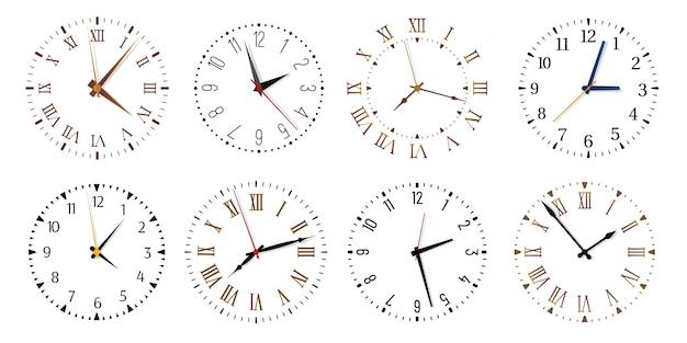 Cadrans d'horloge modernes.