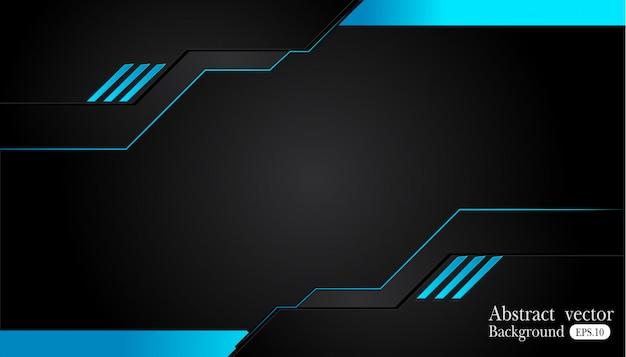 Cadre abstrait bleu métallique noir design innovation concept mise en page