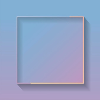Cadre abstrait coloré carré blanc