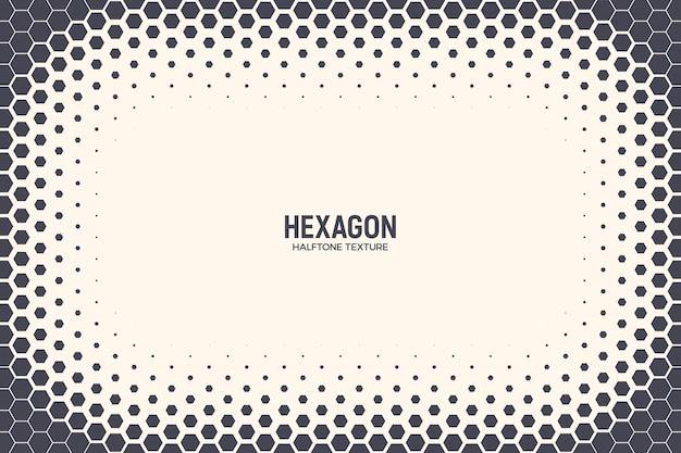 Cadre abstrait en demi-teintes hexagones
