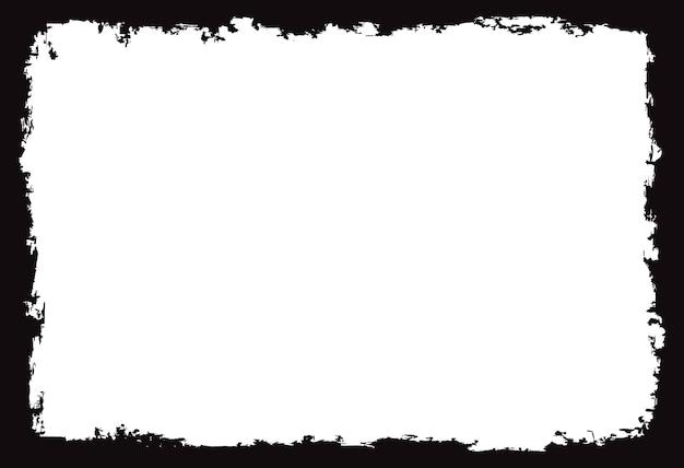Cadre abstrait grunge noir