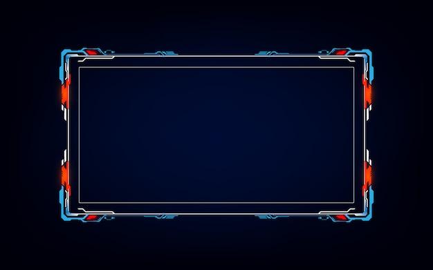 Cadre abstrait hud ui gui futur système d'écran futuriste virtuel