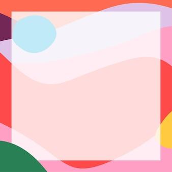 Cadre abstrait à memphis moderne coloré