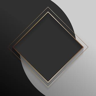 Cadre abstrait noir carré blanc