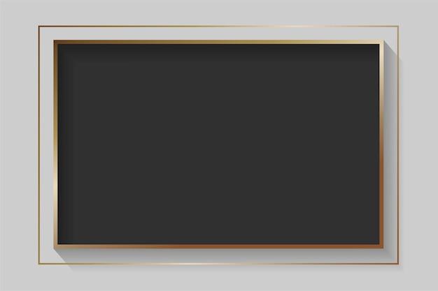 Cadre abstrait noir rectangle blanc
