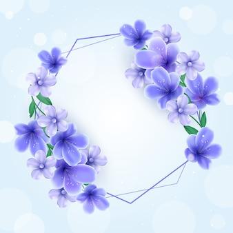 Cadre abstrait printemps floral réaliste