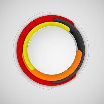 Cadre abstrait rond ou cercle avec fond