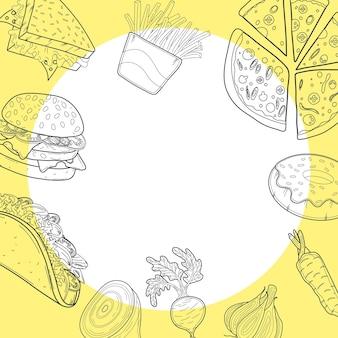 Cadre d'aliments à une ligne