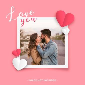 Cadre d'amour pour la saint valentin