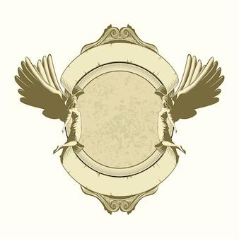 Cadre d'ange avec ornement classique