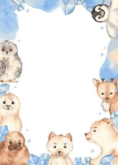 Cadre animaux arctiques