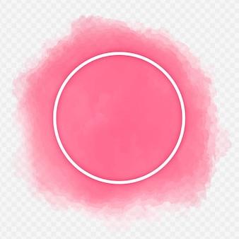 Cadre aquarelle de couleur rose