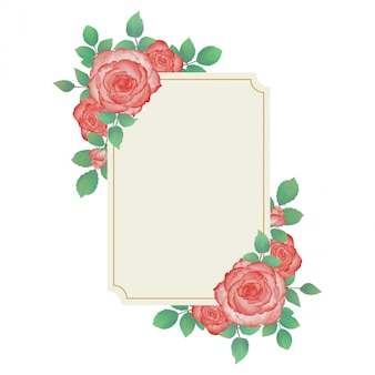 Cadre aquarelle fleur de mariage