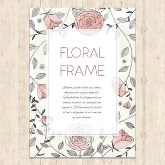 Cadre de l'aquarelle florale