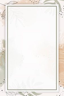 Cadre aquarelle rectangle beige