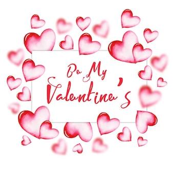 Cadre aquarelle valentine